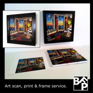 scan print frame service